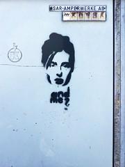 And Me? (wolfgraebel) Tags: woman art face wall graffiti gesicht punk industrial kunst pale frau mauer brache schablone blass trafo bleich isaramperwerke hohenschftlarn trafokasten