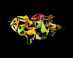 Espoyunatorri (Alexandre Poulin-Giroux) Tags: blue canada art yellow modern digital spiral rouge design space vert next system vision andromeda future species abstraction form psychedelic alexandre civilisation espace frontier galaxie ovni fresque abstrait doré extraterrestre vestige relique univers mystérieux espèces andromède poulingiroux