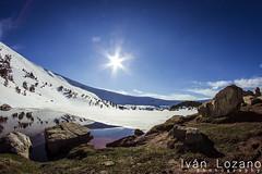 Laguna Larga (Ivn Lozano photography) Tags: espaa sun snow sol canon y nieve ivan lagoon fisheye leon laguna burgos lozano castilla lagunas neila