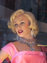 Wax Marilyn Monroe in Diamonds are a Girls Best Friend Pink Dress 7857 (Brechtbug) Tags: birthday street new york city nyc uk pink girls madame england music holiday window statue rock marilyn museum diamonds movie easter star friend dress display britain weekend manhattan royal front best midtown 1950s monroe actress roll british wax norma brit jeane 42nd tussauds waxworks 2014 mortenson