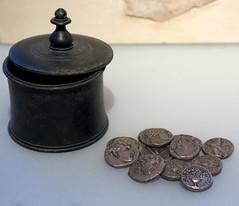 The Money Changers in the Temple (Nick in exsilio) Tags: money temple israel coins jerusalem shekel changers secondtemple