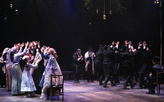 "The wedding scene from the Music Circus production of ""Fiddler on the Roof"" at the Wells Fargo Pavilion Aug 14-19. Photo by Charr Crail."