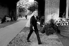 The groom (Barbara Oggero) Tags: wedding party people man groom bride veil panning