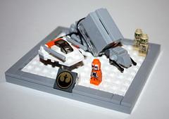 IMG_9389 (FM_lego) Tags: snow rebel star starwars lego luke mini scene darth micro empire wars vader minifig atat hoth skywalker moc snowspeeder minifigures