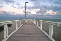 Wellington Point Jetty Brisbane (Lenny K Photography) Tags: ocean sunset clouds point sundown jetty australia brisbane explore wellington qld queensland explored explord
