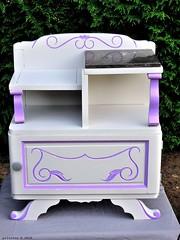 Chevet couleur beige moyen et rose bonbon (Ambiances Bois & Patines) Tags: peinture meuble chevet relooking pillotou ambiancesboispatines