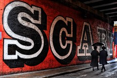 (jacob.rodrigues39) Tags: ben eine scary street art rivington east london uk umbrella rain couple streetphotography