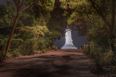 A statue (Markus Lehr) Tags: statue trees path longexposure nightshot asia china markuslehr