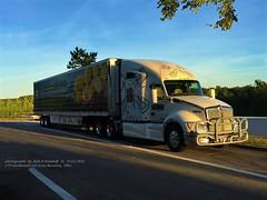 KW, Eagle Eye Logistics 279, Ravenna, Ohio, 9-25-2016 (jackdk) Tags: train semi tractortrailer semitruck semitrailer kw kenworth eagleeye eagleeyelogistics bigtruck