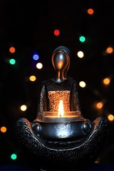 Om (Note-ables by Lynn) Tags: candle flame bokeh stillness serene serenity