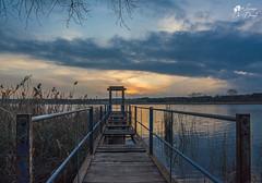 Ne riflesso di un lago dorato si rispecchiano i miei sogni (lulo92) Tags: sunset sun gold oro sole tramonyo tramonto lake lago otranto lecce samyang nikon nikontop top landscapes cloud clouds cloudsscpaes ponte