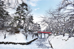 Hirosaki Castle Moat. © Glenn E Waters. Japan 2017. Thank you for over 6,000 visits to this image. (Glenn Waters ぐれんin Japan.) Tags: hirosaki japan castle moat winter snow ice trees glennwaters aomori park bridge sky ぐれん ウォータースぐれん 弘前城 冬 雪 彫り お城 青森県 japanesewinter japanesecastle explore explored cherrytrees