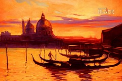 promenade and pier with gondola in Venice, oil painting on canvas,illustration (matbaasayfasi.com) Tags: city ancient architecture art boat calmness canvas cathedral channel creativity dawn drawing europe european fog gondola gondolier historical holiday horizon horizontal illustration image italian italy landingstage landscape lyrical mooring morning oil painting port quay reflexion relaxation rest romantic sea silence silhouette steps tourism tourist travel venice water wave spain