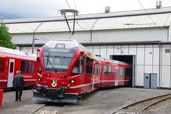 IMGP7801 (Alvier) Tags: schweiz graubünden rhb rhätischebahn landquart hauptwerkstätte tagderoffenentür triebfahrzeuge lokomotiven taufe triebzüge