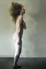 Abased (shelbyhallimage.) Tags: photography black paint girl full body hairflip hair flip