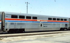 Amtrak hi-level diner on the Desert Wind in 1982 (Tangled Bank) Tags: old clasic heritage vintage train railway railroad north american amtrak passenger car rolling stock hilevel diner desert wind 1982