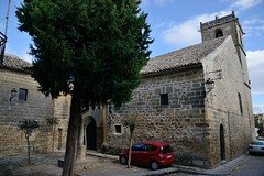 0510-20161014_Baeza-Spain-Iglesia de San Andres-small Plaza at W corner of Church viewed from Calle Dr. Ojeda (Nick Kaye) Tags: baeza andalucia spain europe streetscene church