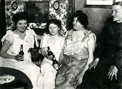 Ladies Of the Night (~ Lone Wadi ~) Tags: prostitutes brothel bordello retro 1910s unknown dog beer alcohol