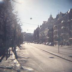 Linnégatan (rotabaga) Tags: sverige sweden göteborg gothenburg diana lomo lomography mediumformat mellanformat 120 6x6 ljusläckage lightleaks lomography400 linnéstaden linnegatan