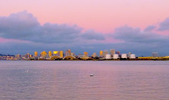San Diego Skyline at Sunset, San Diego, Calif. (wolfmanradio) Tags: sandiego sandiegoskyline sandiegobay shelter island