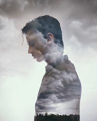 67/365 (Chris Gray Photo) Tags: storm sky clouds grey people portrait profile portraiture selfprotrait self silhouette doubleexposure overlay canon 50mm conceptual surreal fineart 365project