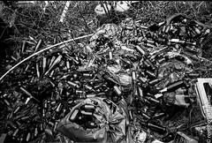 Soif. (renphotographie) Tags: analog argentique film35mm berggerpancro400 bouteilles soif abandon noiretblanc olympusxa fougères