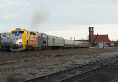 Brantford Departure (Joseph Bishop) Tags: via 907 ge p42 canada150 trains train track tracks railfan railroad railway rail cndundassubdivision brantford
