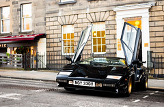 Countach S showing us her moves (Aimery Dutheil photography) Tags: lamborghini lamborghinicountach countachs lambo lamborghinicountachs countach v12 black goldwheels italian classic edinburgh scotland scottishsupercars supercar exotic fast speed amazing canon 6d