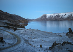 Icy and blue barren landscape (Sverrir Thorolfsson) Tags: