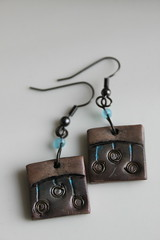 Polymer Clay Earrings (Monika Polak) Tags: flower art handmade jewelry jewellery polymerclay fimo clay earrings polymer monikapolak