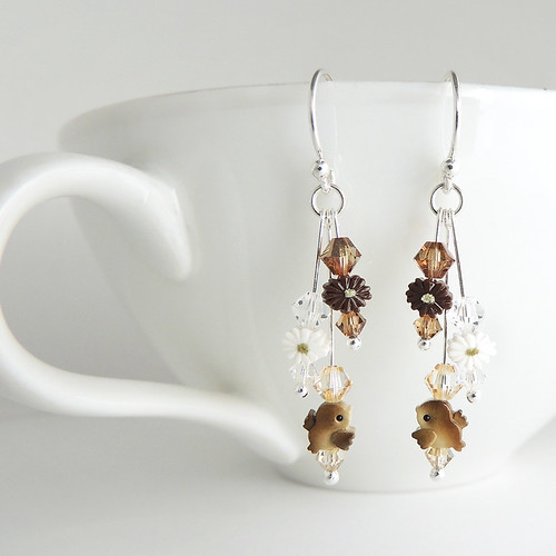 Little Brown Sparrow Earrings