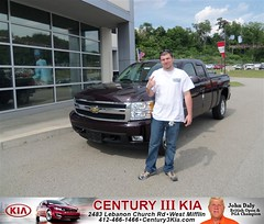 Century 3 Kia would like to say Congratulations to Katrina Braddock on the 2008 Chevrolet Silverado 1500 from Jeffrey Waddell Sr. (Century 3 KIA) Tags: new 3 west car century sedan truck wagon happy pittsburgh pennsylvania used vehicles pa delivery bday kia van minivan suv coupe dealership hatchback dealer customers mifflin shoutout 4dr 2dr preowned