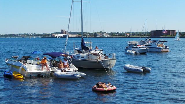 Boats at Newport Jazz Festival 2013