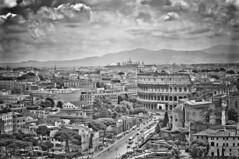 Roman Colosseum from Altare della Patria