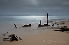 All that remains (PhotoArt Images) Tags: longexposure australia le southaustralia yorkepeninsula innesnationalpark ethelwreck nikon2470mm28 photoartimages