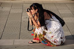 Photography in full colour (Saumil U. Shah) Tags: street camera italy woman color colour colors girl photography italian italia colours photographer streetphotography skirt attractive trieste select shah saumil saumilshah