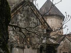 S. Stepanos church (Surp Stepanos), 1244 (Tiigra) Tags: 2006 armenia haghartsin architecture church garden shape tree village tavush