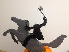 Horseman (BKNY Bricks) Tags: sculpture horse art halloween headless pumpkin lego sleepy hollow horseman