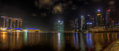 A night in Singapore (Fil.ippo) Tags: travel panorama skyline night singapore nightscape viaggi filippo notturno sigma1020 d7000 filippobianchi