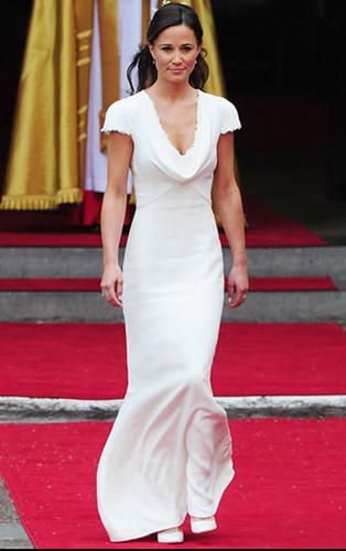 Pippa Middleton: s maid-of-ära bröllop klänningar