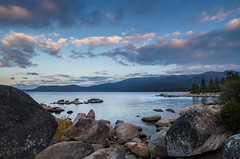 Boulder-Framed-Lake-Tahoe (sara silver) Tags: wet water tahoe aspens waterscapes
