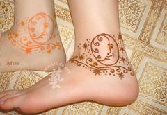 nature henna cone finally 3 (artdenet@gmail.com (Aupoman)) Tags: mehndi hennatattoo hennacone  naturehenna