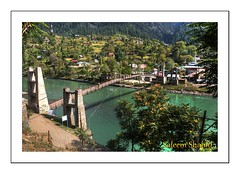 Bridge in Sharda Azad Kashmir (saleem shahid) Tags: