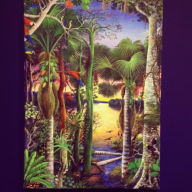 """Jose Luis Vasquez Gonzales """"Usko Ayar"""" • """"La escuela de las Visiones"""" #art #arteenlima #artinlima #arte #artist #artista #painting #pintura"""