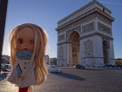 Carrie visiting Paris
