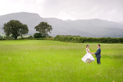 The happy couple (Brian Munnelly) Tags: wedding white mountain field groom bride marriage