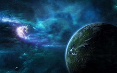 Far-World-From-Earth (GurshobitBrar) Tags: blue red galaxy planets newworlds