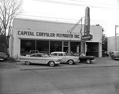 Chrysler-Plymouth Dealership, 1957 (Railroad Jack) Tags: