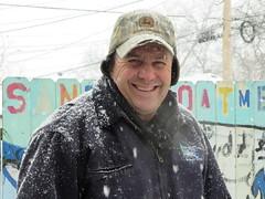 park winter food snow chicago tractor hat john buzz illinois cafe oak day farm meat snowing farmer organic february dennis deere 2014 wettstein chicagoist vision:outdoor=0935 wettsteins