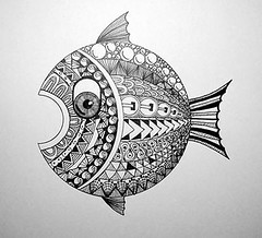 Fish (Earl Grey Sin) Tags: fish pen ink doodle zentangle